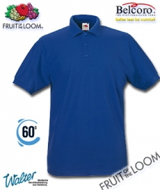 "Produktbild ""Bauru Polo-Shirt - Fruit of the Loom® 65/35 Polo weiß"""