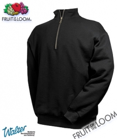 "Produktbild ""Cileste Zip-Sweater - Fruit of the Loom® Zip Neck Sweat weiß"""