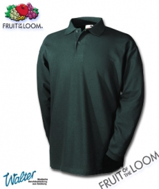 "Produktbild ""Longost Polo lg. Arm - Fruit of the Loom® Long Sleeve weiß"""