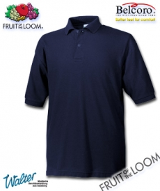 "Produktbild ""Beuro Polo-Shirt - Fruit of the Loom® Premium Polo weiß"""